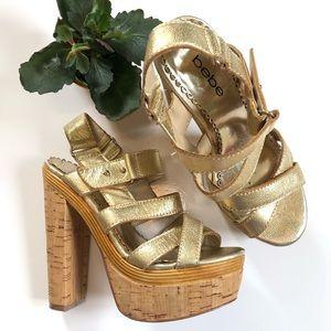 Bebe platform sandals
